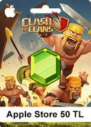 50 TL Apple Store Clash Of Clans