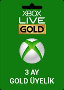 Xbox Live 3 Ay Gold Üyelik