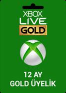 Xbox Live 12 Ay Gold Üyelik