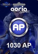 Wartune 1030 Aeria Points