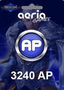 Wartune 3240 Aeria Points