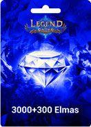 Legend Online 3000+300 Elmas