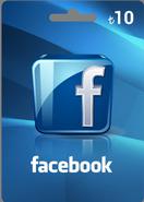 Facebook 10TL Hediye Oyun Kartı