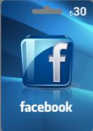 Facebook 30TL Hediye Oyun Kartı
