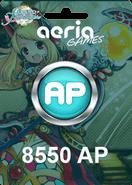 Grand Fantasia 8550 Aeria Points