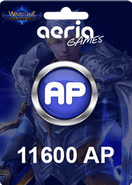Wartune 11600 Aeria Points