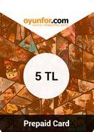 Oyunfor PrePaidCard 5 TL