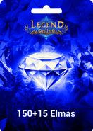 Legend Online Reborn 150 +15 Elmas