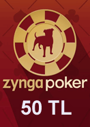 Zygna Texsas Holdem Poker 50TL
