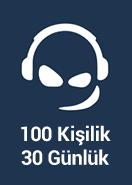 Team Speak 3 100 Kişilik 1 Ay ( Eski Sürüm )