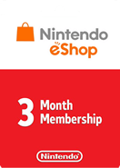 Nintendo eShop Gift Cards 3 Month  Membership US