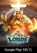 Google Play 100 TRY Lords Mobile