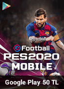 eFootball PES 2020 Mobile Google Play 50 TL Bakiye