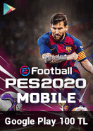 eFootball PES 2020 Mobile Google Play 100 TL Bakiye