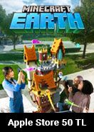 Apple Store 50 TL Minecraft Earth (Minecoins)