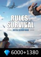 Rules of Survival 6000+1380 Diamonds